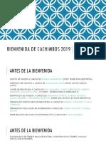 Bienvenida de Cachimbos 2019