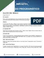 Conteúdo Programático - Excel 2013 VBA - Módulo II