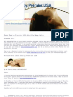 Dead Sea by Premier USA Monthly Newsletter November 2010