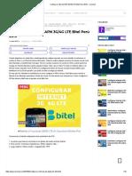 Configurar Internet APN 3G_4G LTE Bitel Perú 2019 - Cosmovil
