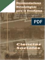 1-Ciencias Sociales; Caracaterísticas, Objetivos, Conceptos