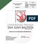 Directiva de Seguridad Informatica v 1.0