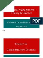 Ch 15 Capital Structure Descions