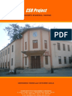 CSR Project Report to Manmad