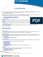 Finding Work in Australia