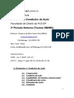 Processo Civil I (2018-2)  (Elementos e Condições Da Ação)