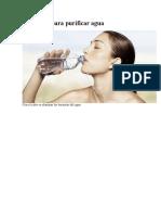 3 Métodos Para Purificar Agua