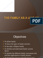 Family as a Unit of Care Family Systems