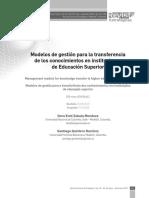 modelos de gestion para las transferencias de conocimiento