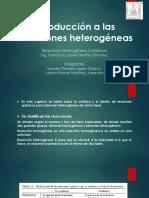 Introducción a Las Reacciones Heterogéneas