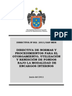 Directiva Nº 002 2011 Mp Surquillo
