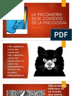 La Psicometria en El Contexto de La Psicologia