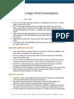 Sugar Drink Consumption Fact Sheet