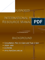 BUSN3025 Seminar 1 Introduction to IHRMa
