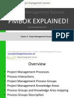 Project Management Success - PMBOK Explained - Session 3 Project Management Processes