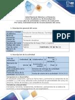 Guía de Actividades y Rúbrica de Evaluación - Pre-tarea - Actividad Inicial de Reconocimiento Del Curso