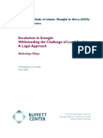 Abdoulaye Dièye_Secularism in Senegal-Withstanding the Challenge of Local Realities-A Legal Approach