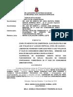 Ri 0114299-50.2015.8.05.0001 Conflito de Competência. Cooperativa de Crédito Relação de Consumo