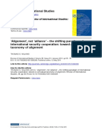 Alignment Not Alliance the Shifting Paradigm of International Security Cooperation Toward a Conceptual Taxonomy of Alignment
