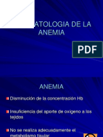 Fisiopatologia Anemia