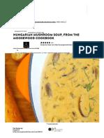 Hungarian Mushroom Soup, From the Moosewood Cookbook Recipe - Genius Kitchen