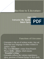 Functions of Literature & Relation to Life