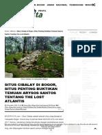 Situs Cibalay Di Bogor, Situs Penting Buktikan Temuan Arysos Santos Tentang the Lost Atlantis _ Bogor-Kita.com