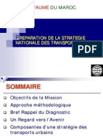 Prepation de la Strategie national des Transports Urbain Maroc