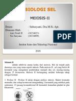 Biologi Sel Meiosis-II