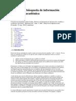 Motores de Búsqueda de Información Científica y Académica