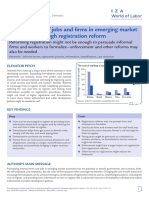 Formalization of Jobs and Firms in Emerging Market Economies Through Registration Reform