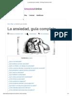 La Ansiedad, Guía Completa - Psicólogo Emocional Online