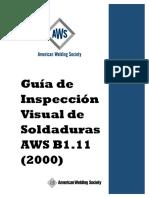 AWS B1.11 Inspección visual de soldaduras