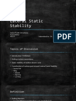 Lateral Static Stability