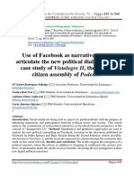 Use of Facebook as Narrative Tool to Art