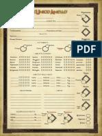 Unico Anello GDR - Scheda del PG editabile