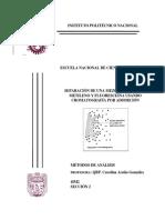 Separación de una mezcla de azul de metileno y fluiresceína por adsorción