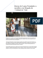 Atiende Gobierno de Laura Fernández a los más vulnerables con Brigada de Bienestar y Calidad de Vida