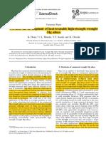 Towards the Development of Heat-treatable High-strength Wrought Mg Alloy