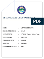 MAEL_201 UOU Solved Assignment MA17-English (Final Year) 2019