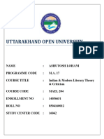 MAEL_204 UOU Solved Assignment MA17-English (Final Year) 2019