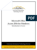 0484 Introduction to Access 2016