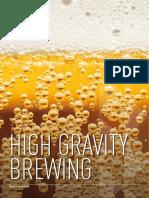 High gravity brewing