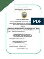 Proyecto de Educación Ambiental 2