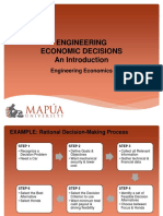 MAPUA_EngEconLesson1 - Introduction and Engineering Economic Decisions