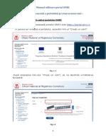 Manual de utilizare portal ONRC creare cont
