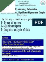 Errors Calculation