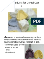 1.Gypsum Products for Dental Casts