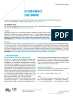 [Journal of Middle European Construction and Design of Cars] Subsynchronous Frequency of a Turbocharger Rotor