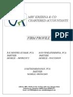 Mvr Krishna CA Biodata Stock Audit